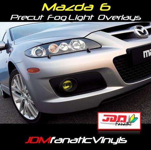 03-08 Mazda 6 Precut Yellow Fog Light Overlays Tint Covers Kit