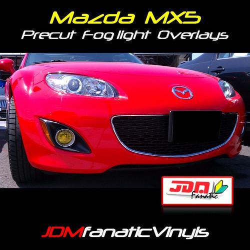 09-12 Mazda Miata MX5 Precut Yellow Fog Light Overlays Tint Covers Kit
