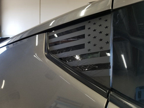 American Flag Quarter Window Decal (370z)