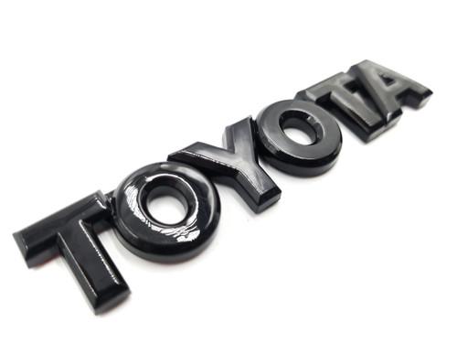 Toyota Gloss Black Trunk Emblem Lettering- Hyperblue Series