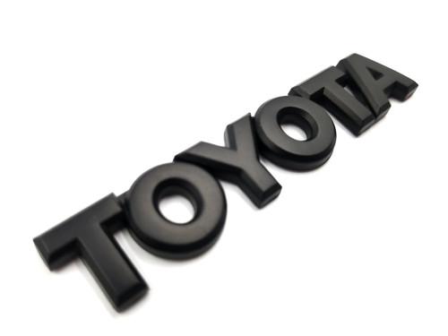 Toyota Matte Black Trunk Emblem Lettering- Hyperblue Series