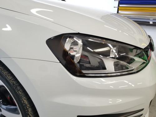 Smoked Head Light Amber Delete Overlays Tint (15-18 Golf R/GTI)