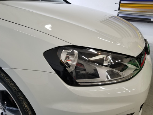 Blackout Head Light Amber Delete Overlays (15-18 Golf R/GTI)