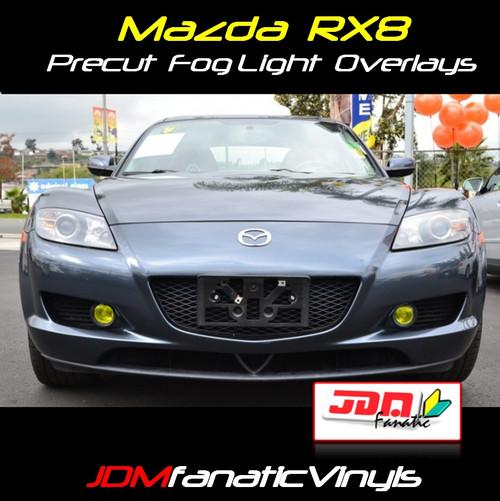 04-08 Mazda RX8 Precut Yellow Fog Light Overlays Tint Covers Kit