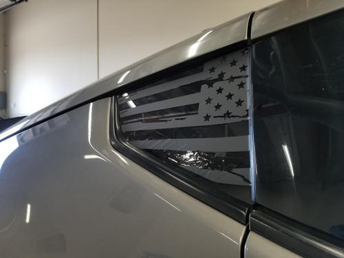 Distressed American Flag Quarter Window Decal (370z)