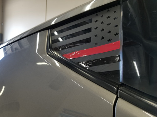 Thin Red Line Flag Quarter Window Decal (370z)