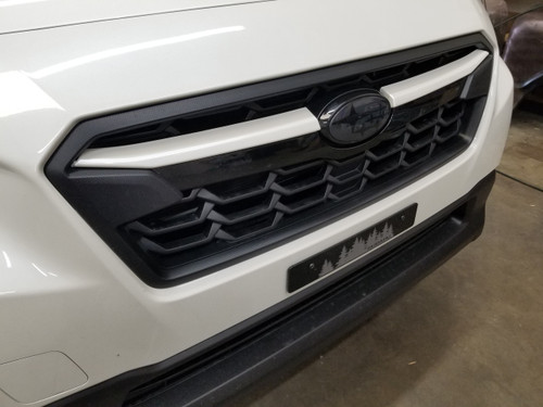 Crystal White Pearl ABS Plastic Grille  Accent Trim Covers Winglets (2018-2020 Crosstrek)
