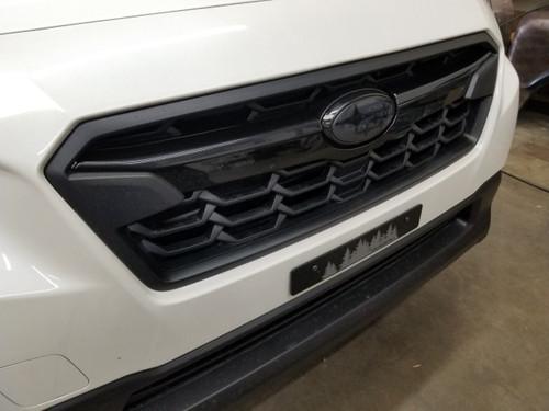 Gloss Black ABS Plastic Grille  Accent Trim Covers Winglets (2018-2020 Crosstrek)