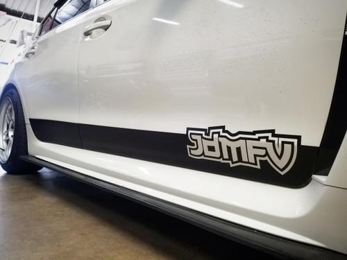 V2 - JDMFV Side Door Rocker Banner - JDMFV Logo