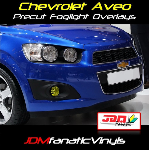 11-12 Chevrolet Aveo Precut Yellow Fog Light Overlays Tint