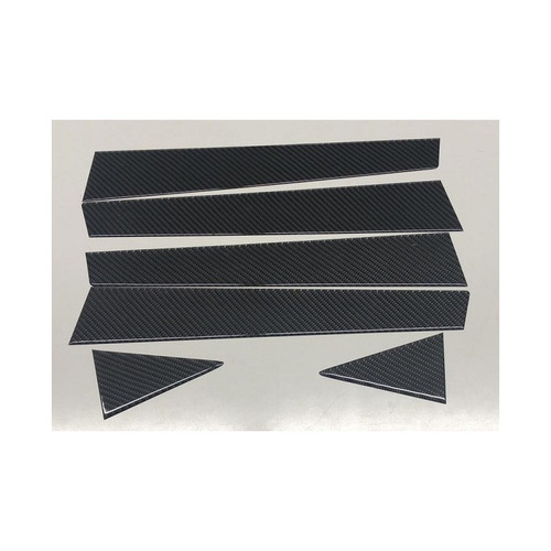 100% Real Carbon Fiber Door PIllars B & C - 6 pcs (08-14 WRX/STI)