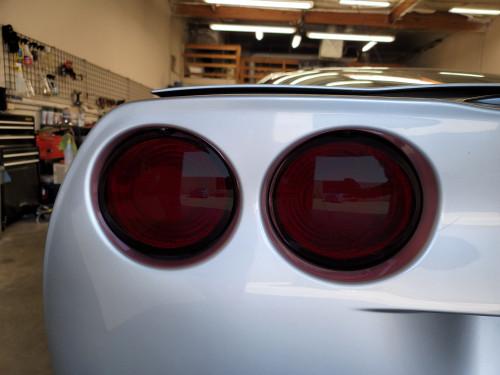 05-13 Chevrolet Corvette C6 Precut Smoked Tail Light Overlays Tint