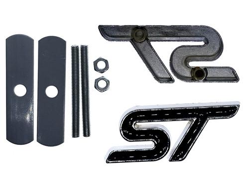 Black ST Grille Emblem Replacement