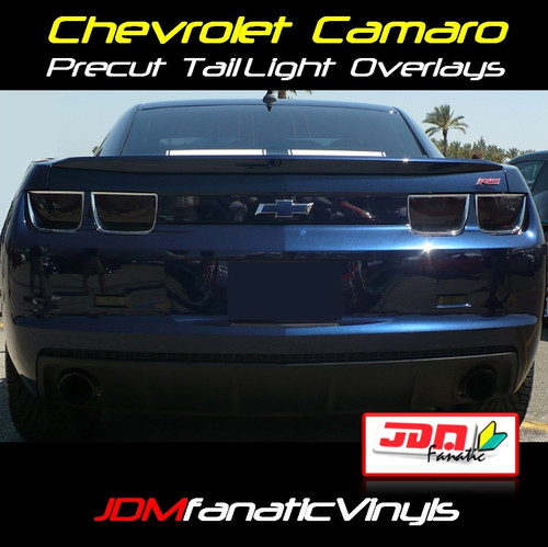 10-13 Chevrolet Camaro 10pcs Precut Smoked Tail Light, Markers, Reverse, Overlays Tint