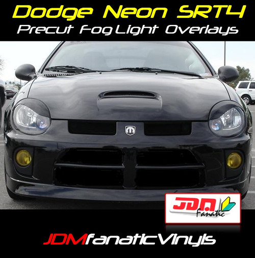 03-05 Dodge Neon SRT4 Precut Yellow Fog Light Overlays Tint