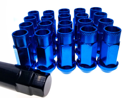 BLUE Steel Tuner Lug Nuts - Open Ended 55mm
