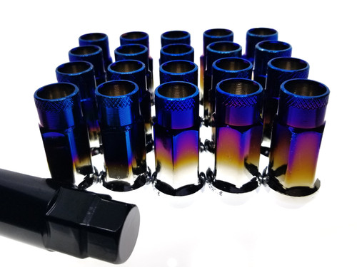 BURNT TIP Steel Tuner Lug Nuts - Open Ended 55mm