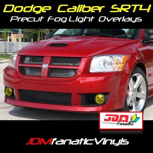 07-10 Dodge Caliber SRT4 Precut Yellow Fog Light Overlays Tint