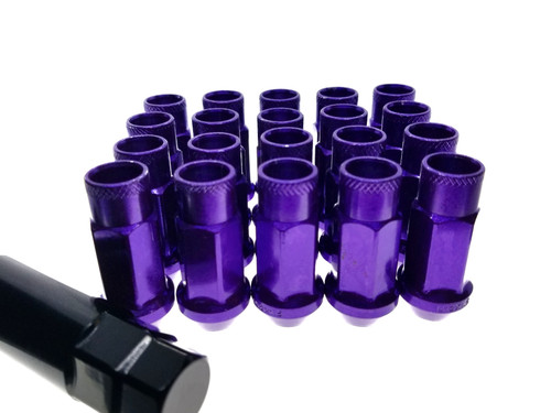 PURPLE Steel Tuner Lug Nuts - Open Ended 55mm