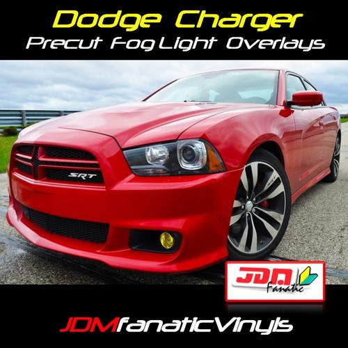 11-13 Dodge Charger SRT8 Precut Yellow Fog Light Overlays Tint