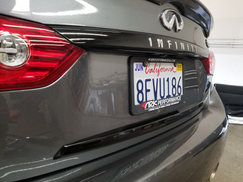 Trunk Chrome Delete with Lettering Cutout  (14-18 Q50)
