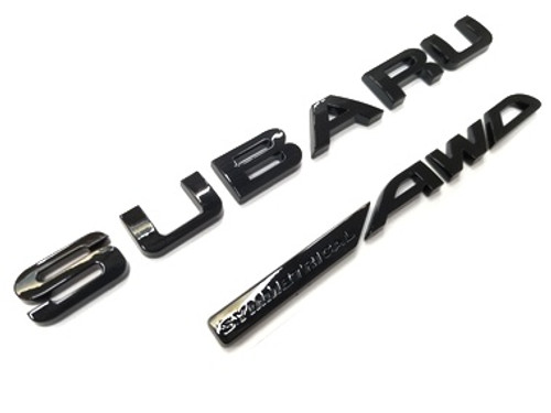 2019 FORESTER - SYMMETRICAL AWD - Gloss Black Trunk Emblem Lettering