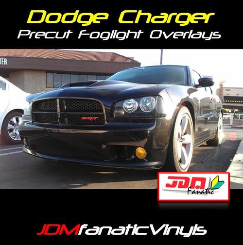 06-10 Dodge Charger SRT8 Precut Yellow Fog Light Overlays Tint
