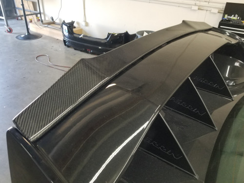 100% Real Carbon Fiber RS Style Gurney Flap For  STI Spoiler (08-14 WRX / STI)
