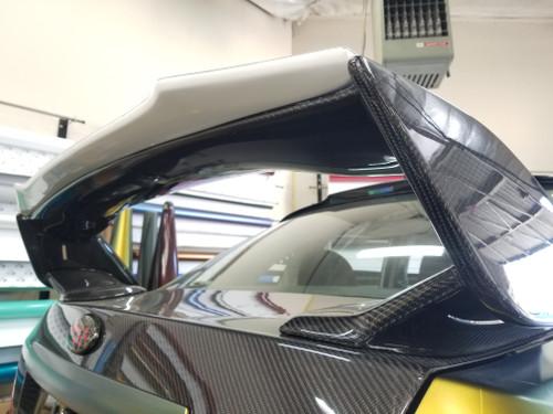 RS Style Gurney Flap For  STI Spoiler - FRP (08-14 WRX / STI)