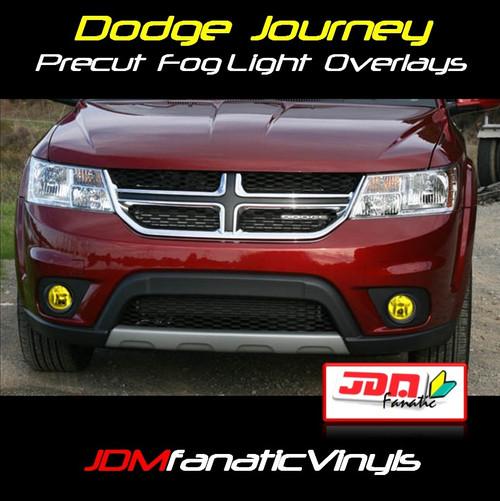 11-12 Dodge Journey Precut Yellow Fog Light Overlays Tint