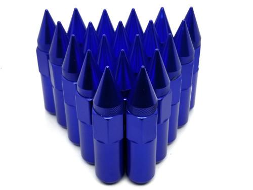 BLUE Aluminum Tuner Lug Nuts - Extended Spike