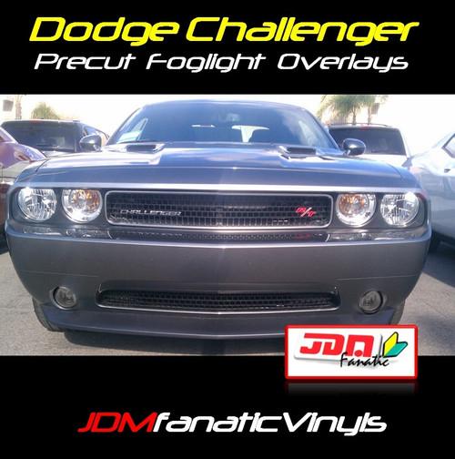 08-12 Dodge Challenger Precut SMOKED Fog Light Overlays Tint