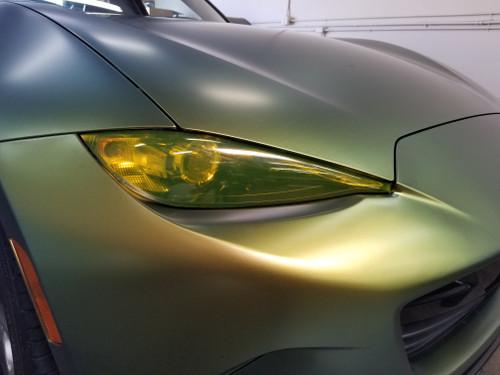 Yellow Head Light Insert Overlays Tint (16-19 MX5)