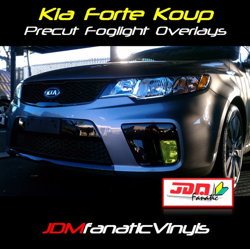 10-12 Forte Koup Precut Yellow Fog Light Overlays Tint