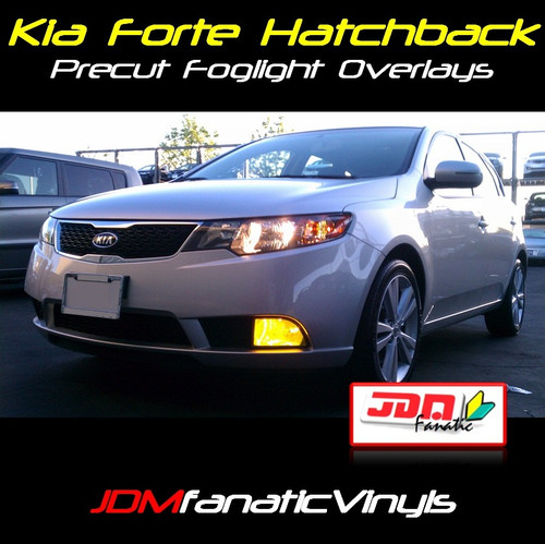 12-13 Forte Hatchback Precut Yellow Fog Light Overlays Tint