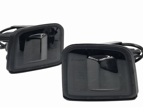 LED Front Turn Signals - Black Reflector / Smoked Lens