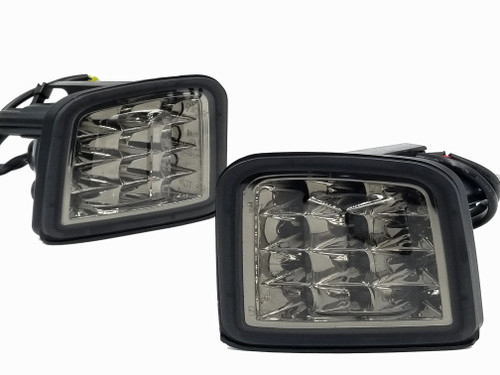 LED Front Turn Signals - Chrome Reflector / Smoked Lens