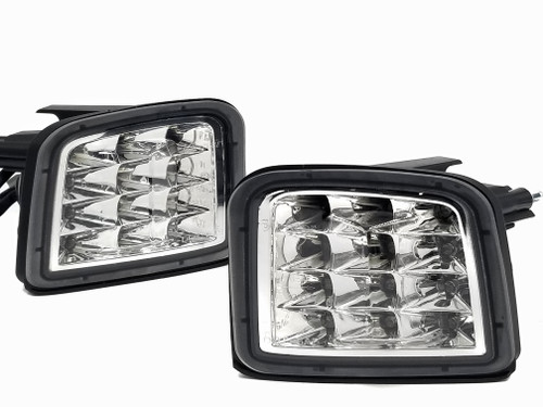 LED Front Turn Signals - Chrome Reflector / Clear Lens
