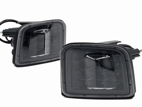 LED Front Turn Signals - Black Reflector / Clear Lens