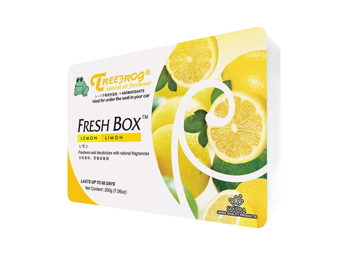 Treefrog Fresh Box Car Air Freshener Scent - Lemon