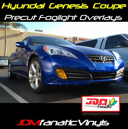 10-12 Hyundai Genesis COUPE Precut Yellow Fog Light Overlays Tint
