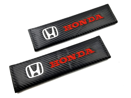 Carbon Fiber Seat Belt Shoulder Pads Cover  - Honda