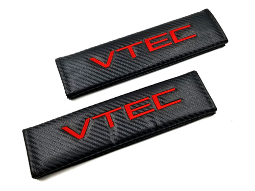 Carbon Fiber Seat Belt Shoulder Pads Cover  - VTEC