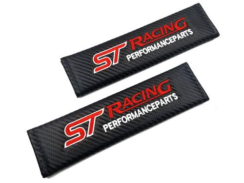 Carbon Fiber Seat Belt Shoulder Pads Cover  - ST Racing