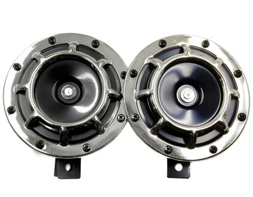 Super Tone Loud Blast Grille Mount Horns 12V 335-400 - Chrome