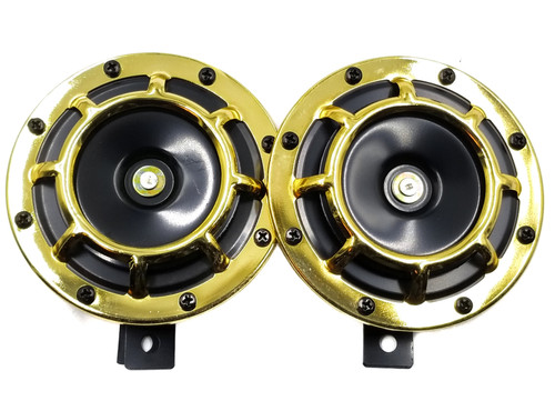 Super Tone Loud Blast Grille Mount Horns 12V 335-400 - Gold
