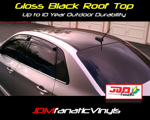 Gloss Black Roof Top Overlay - Universal Kit