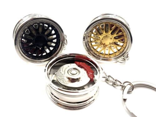 Wheel BBS LM with Spinning Rotor Keychain