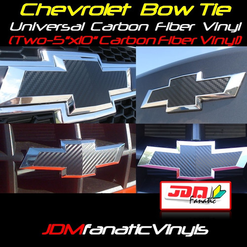 Chevrolet Bow Tie Emblem Front/Rear Vehicle Wrap Overlays