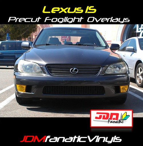 01-05 Lexus IS250/IS300/IS350 Precut Yellow Fog Light Overlays Tint